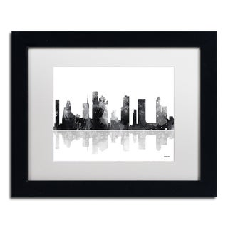 Marlene Watson 'Houston Texas Skyline BG-1' Matted Framed Art