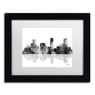 Marlene Watson 'Denver Colorado Skyline BG-1' Matted Framed Art