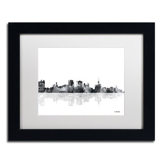 Marlene Watson 'Buffalo New York Skyline BG-1' Matted Framed Art
