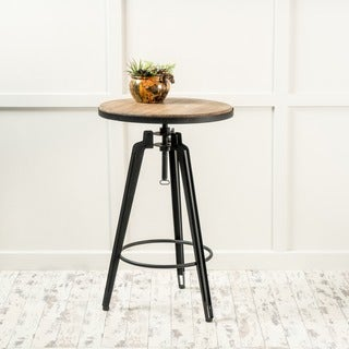 Link to Isla Rustic Wood Round Swivel Bar Table by Christopher Knight Home Similar Items in Dining Room & Bar Furniture
