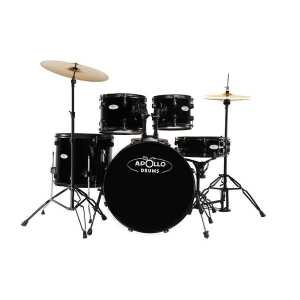 Apollo Drums AP522BK Black 5-piece Drum Set