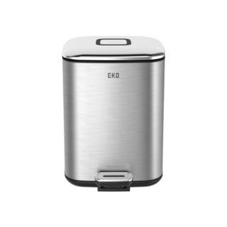 EKO 6 Liter Square Stainless Steel Trash Can