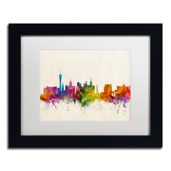 Michael Tompsett 'Las Vegas Nevada Skyline II' Matted Framed Art