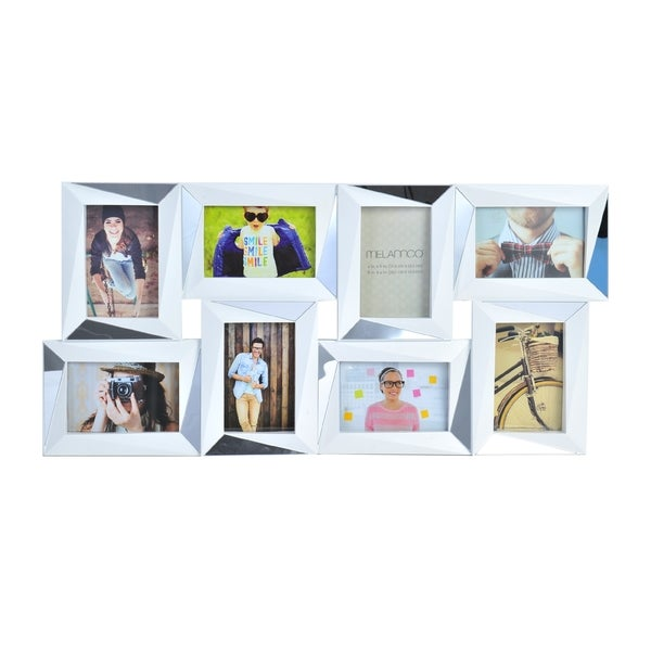 Melannco White Plastic/Glass 8-opening Dimensional Collage Frame ...