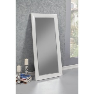 Sandberg Furniture Mid-Century Modern White Full Length Leaner Mirror