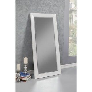 Sandberg Furniture Mid-Century Modern White Full Length Leaner Mirror