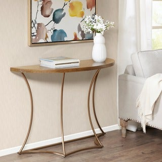 Madison Park Avery Light Brown/ Bronze Console Table