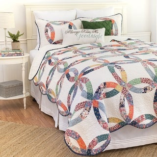 Heritage Wedding Ring Cotton 3-piece Quilt Set