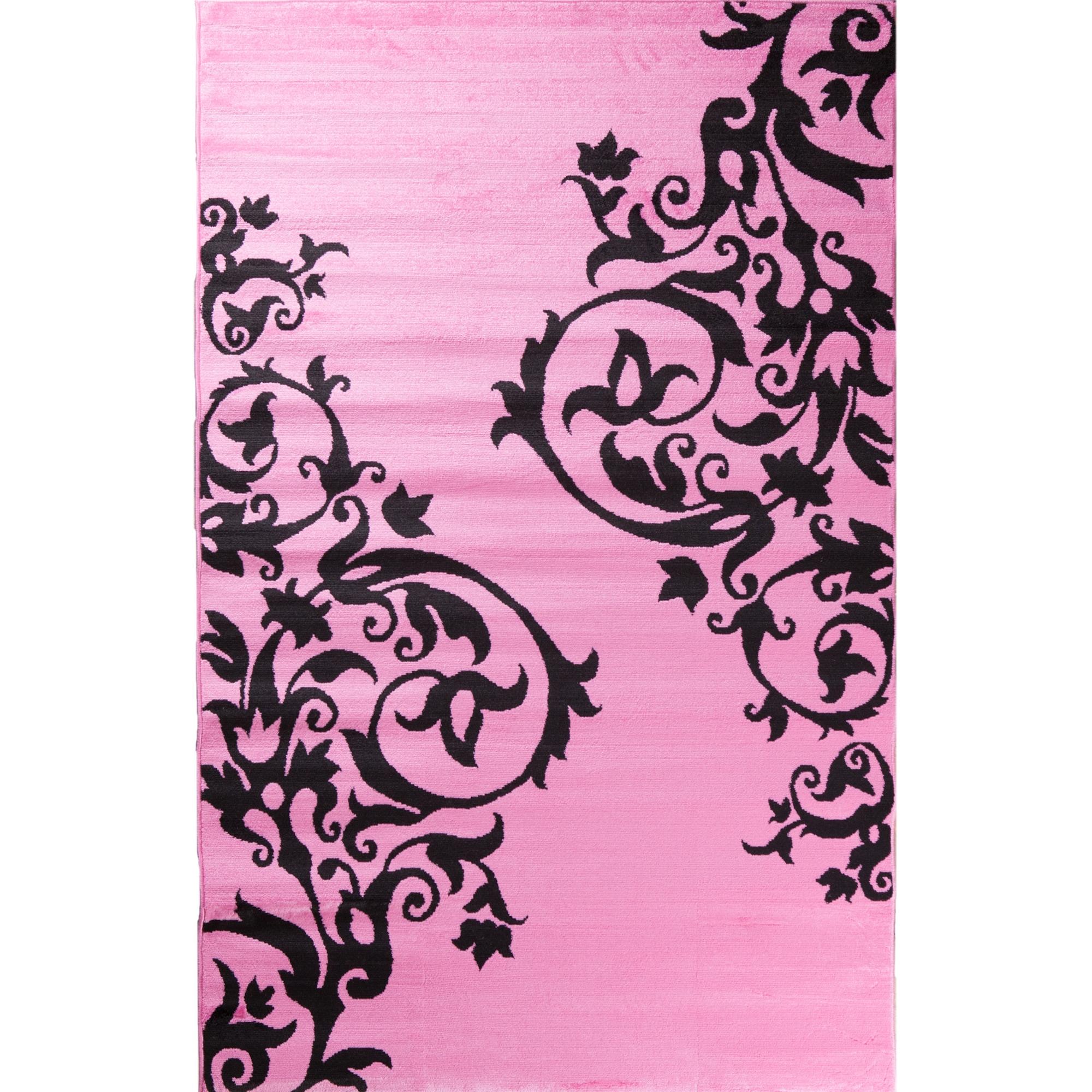 Concord Ingenue Fairytale Pink Polypropylene Rug (5' x 7'...