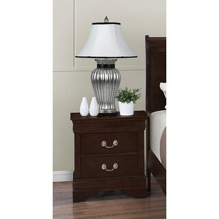 Coaster Company Louis Philippe Bedroom Collection Cappuccino 2-Drawer Nightstand