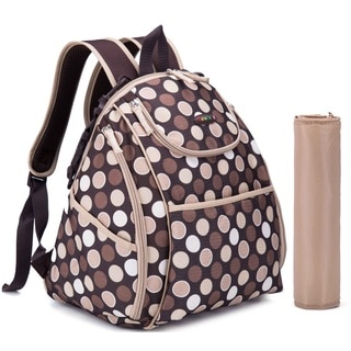 Colorland Brown Polka Multipurpose Mummy Backpack