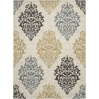 Machine-made Contempra Collection Baroque Polypropylene Rug( 6'7''x9'6'' )