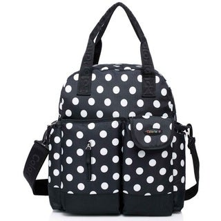 Colorland Black Dots Multifunctional 4-Way Diaper Backpack