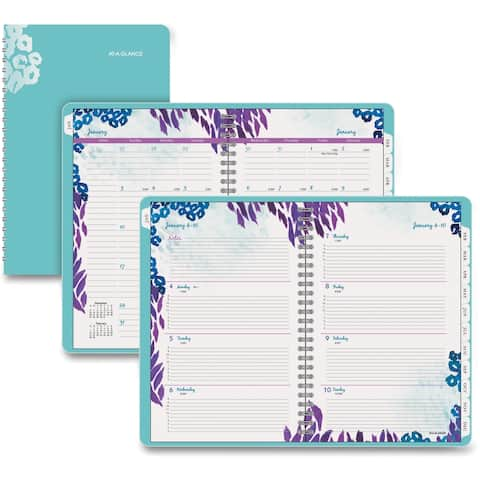 At-A-Glance Wild Washes Weekly/Monthly Desk Planner - Assorted