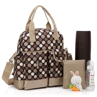 Colorland Brown Dots Multifunctional 4-way Diaper Backpack