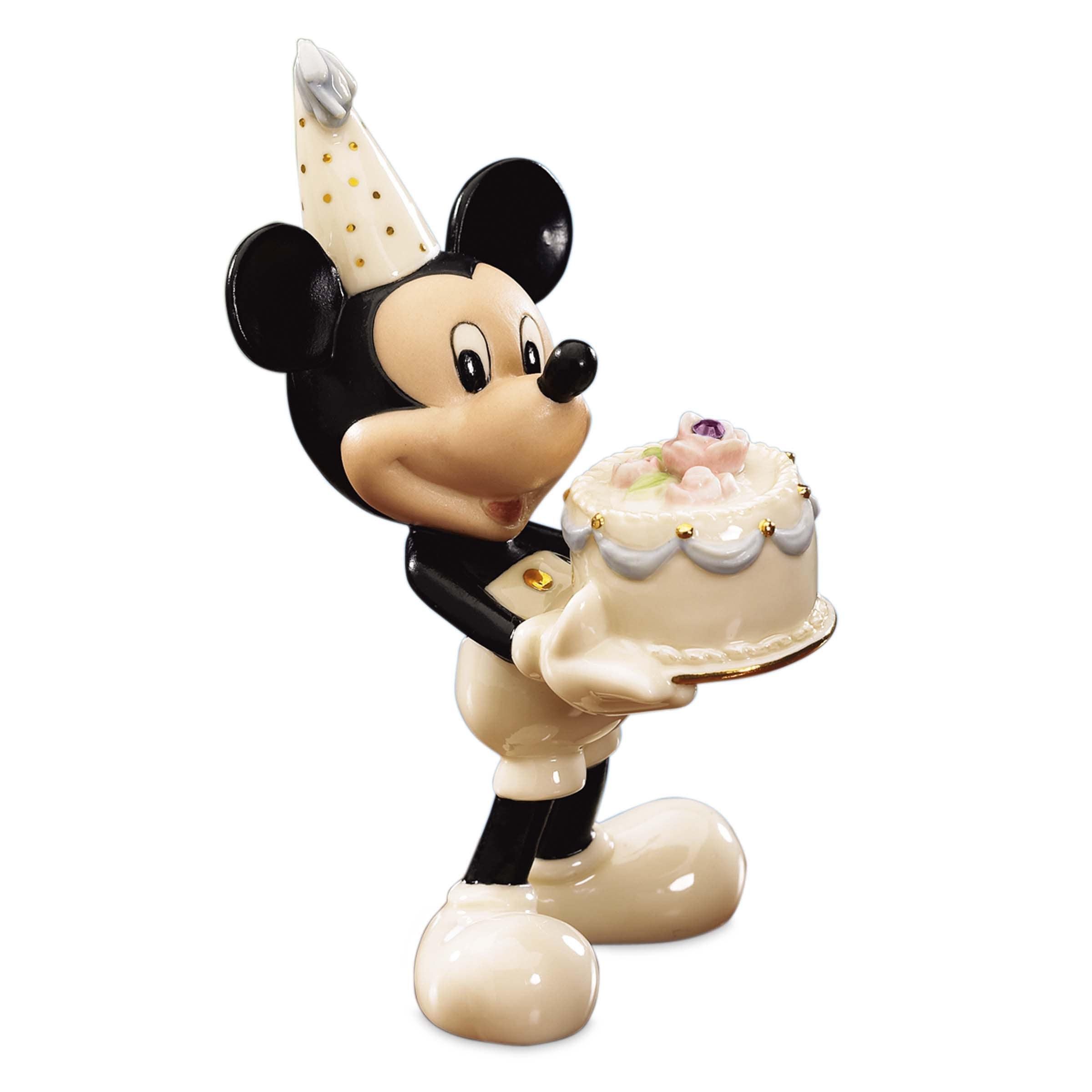 Lenox Disney 'Happy Birthday to You' Porcelain Mickey Mou...