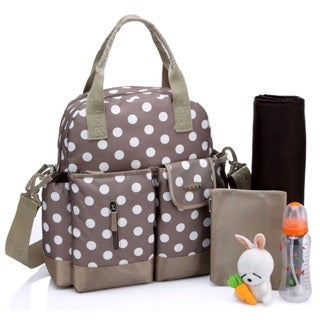 Colorland Khaki Dots Multifunctional 4-way Diaper Backpack