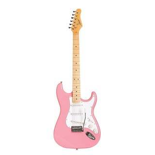 Austin Guitars AST100PK Pink Electric Guitar