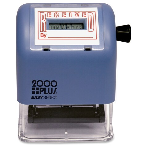 Consolidated Stamp Cosco 011091/2 2000 Plus Easy Select Dater - Red/Blue