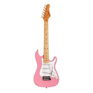 Austin Guitars AST112PK Pink 1/2 Size Electric Guitar