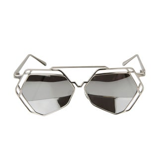 Crummy Bunny Kids UV400 Aviator Style Sunglasses with Silver Metal Frames