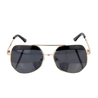 Crummy Bunny Kids UV400 Aviator Style Sunglasses with Gold Frame and Black lens
