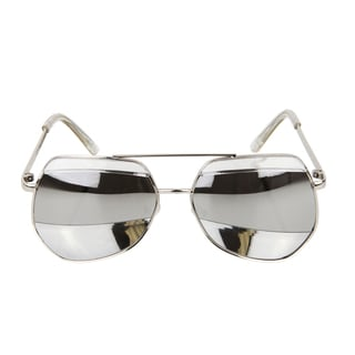 Crummy Bunny Kids UV400 Aviator Style Sunglasses - Silver Metal Frames