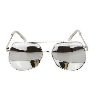 Crummy Bunny Kids UV400 Aviator Style Sunglasses - Silver Metal Frames
