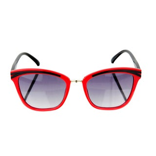Crummy Bunny Kids UV400 Sunglasses - Red and Black Cat Eye Frames