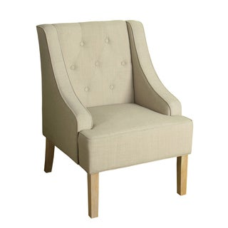 HomePop Kate Tufted Swoop Arm Accent Chair Sand Dune