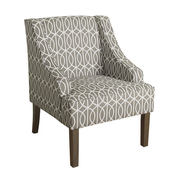 Shop HomePop Finely Swoop Arm Accent Chair