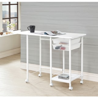 Coaster Metal 2-Drawer Folding Desk