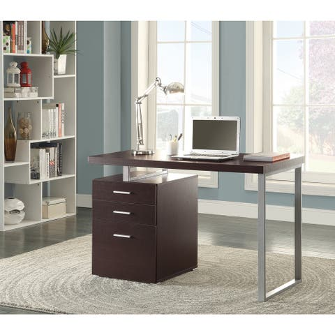 Strick & Bolton Joffe Brown Metal Computer Desk