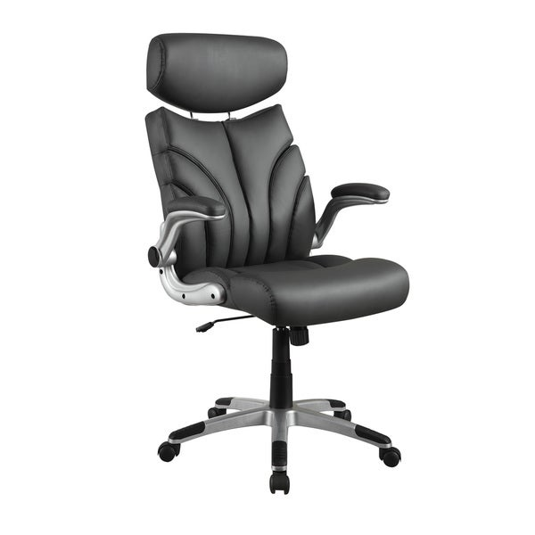 Office Chair Companies: Shop Coaster Company Grey Leatherette Office Chair