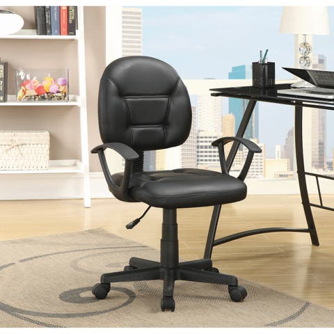 """Coaster Company Black Leatherette Office Chair - 23.25"""" x 24"""" x 34.50"""""""