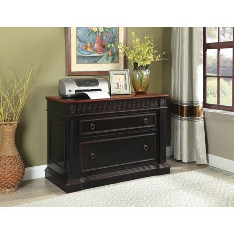 Coaster Company Traditional Wood Two-tone File Cabinet