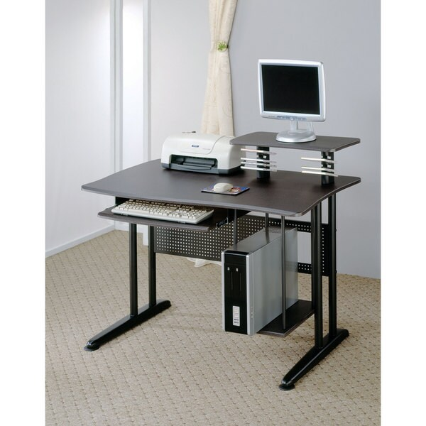 Coaster Company Black Metal/ Marble Top Computer Desk - Free Shipping
