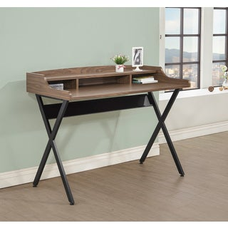 Walnut/ Black Writing Desk