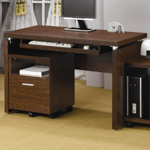 Coaster Company Computer Desk With Pull Out Keyboard Tray