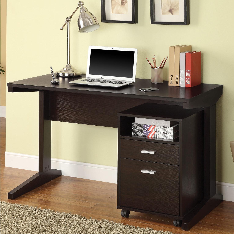 Coaster Furniture Cappuccino Filing Cabinet Desk Set (Cap...