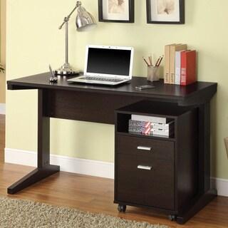 Coaster Company Cappuccino Filing Cabinet Desk Set