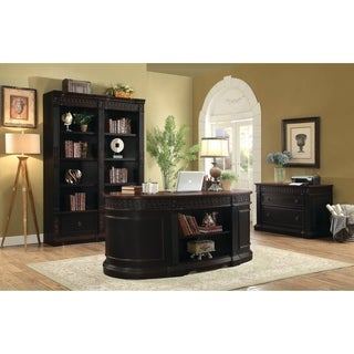 Coaster Company Black/ Cherry Wood Executive Oval Desk