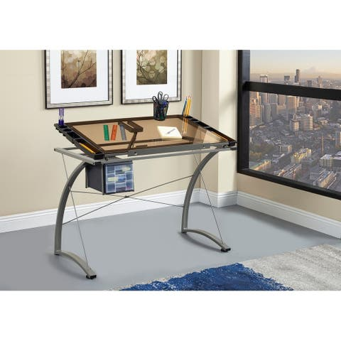 Coaster Company Chrome Drafting Desk