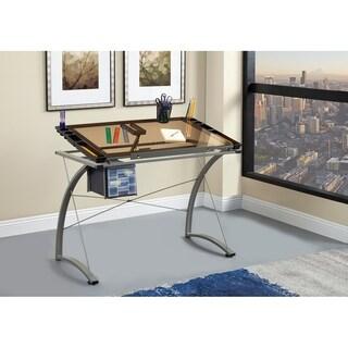 Coaster Company Chrome Drafting Desk