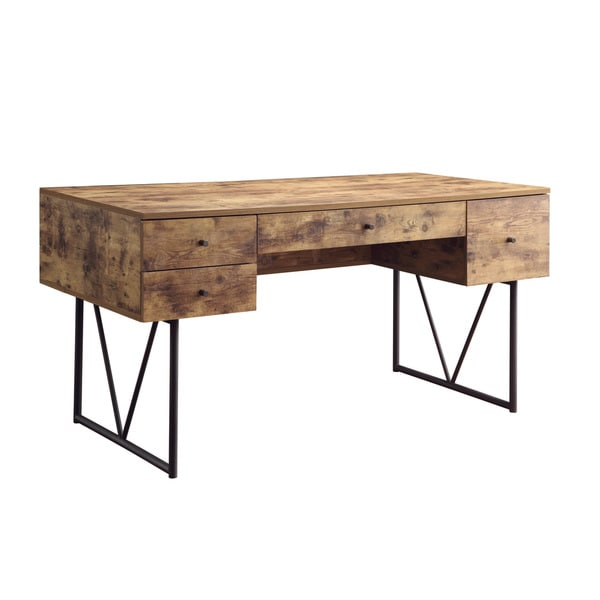 Analiese Industrial Antique Nutmeg Writing Desk - Shop Analiese Industrial Antique Nutmeg Writing Desk - Free Shipping