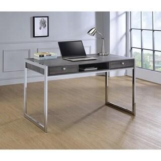 Coaster Company Wood and Chrome Writing Desk