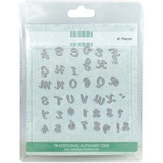 First Edition Dies 41/Pkg Traditional Alphabet