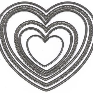 """Marianne Design Craftables Dies Basic Hearts, 1.57"""" To 4.33"""""""