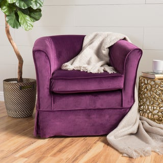 Cecilia Velvet Swivel Club Chair by Christopher Knight Home (2 options available)
