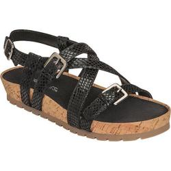 Women's Aerosoles Compliment Sandal Black Snake Fabric
